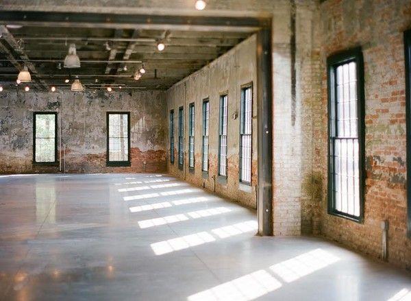 Baltimore event venue with a rustic and industrial feel. Exposed brick, historic Maryland, historic Baltimore, rustic event venues, industrial event venues #weddingvenue #venue