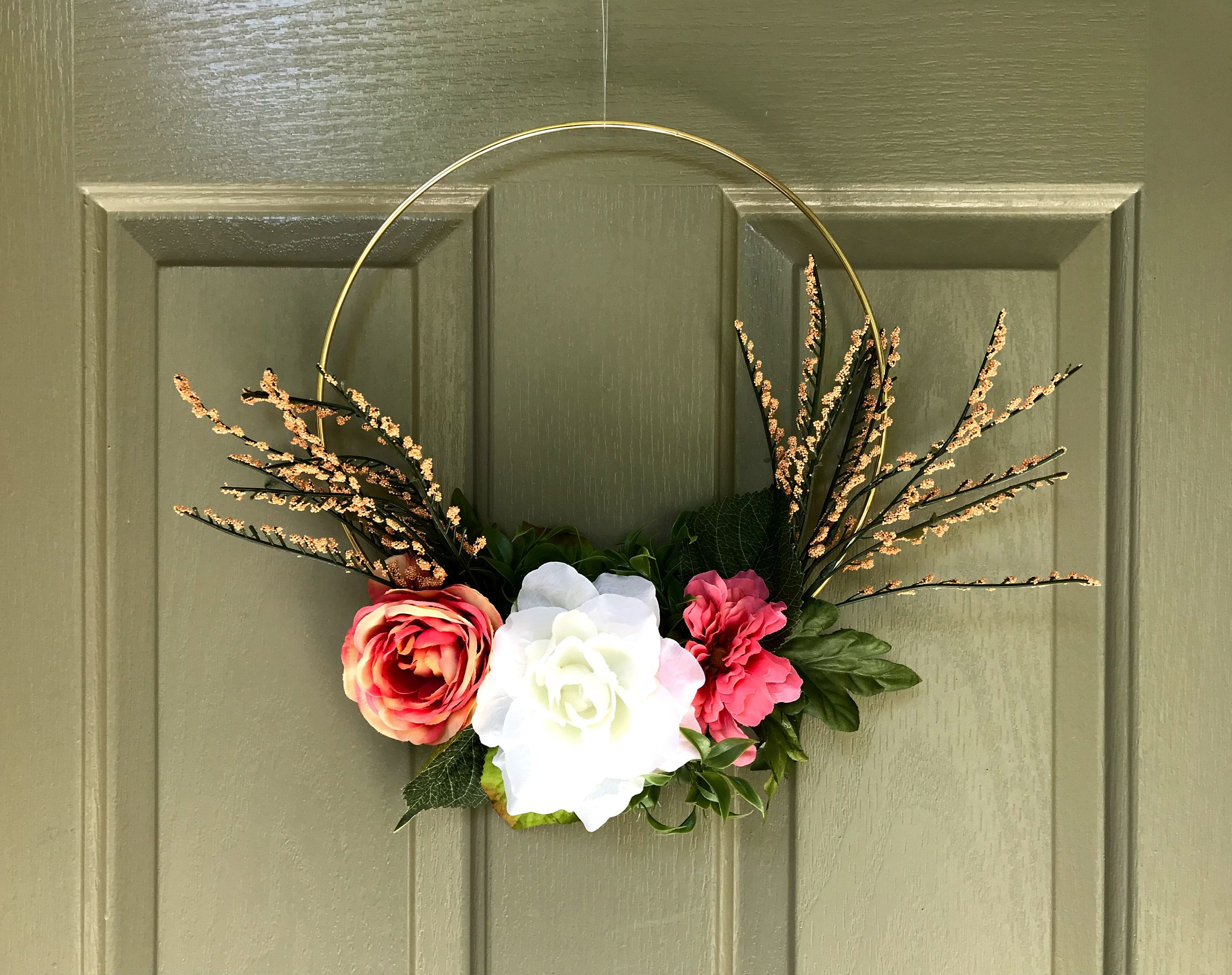 Wedding decorations at home  Floral Wreath  Wedding Wreath  Floral Wedding Wreath Front