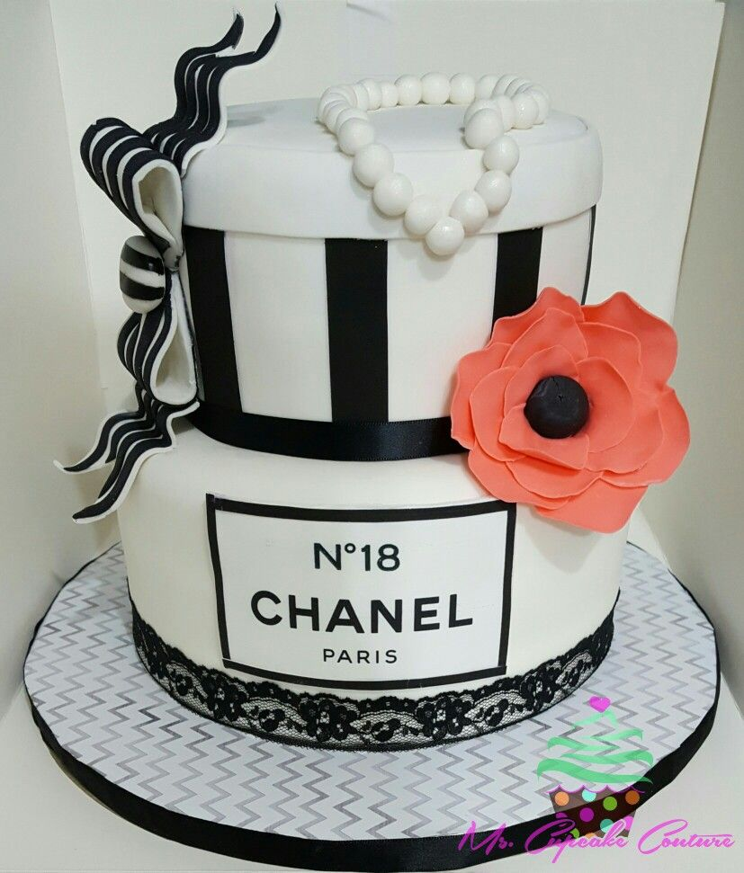 Chanel themed 18th birthday cake | Cakes | Pinterest ...