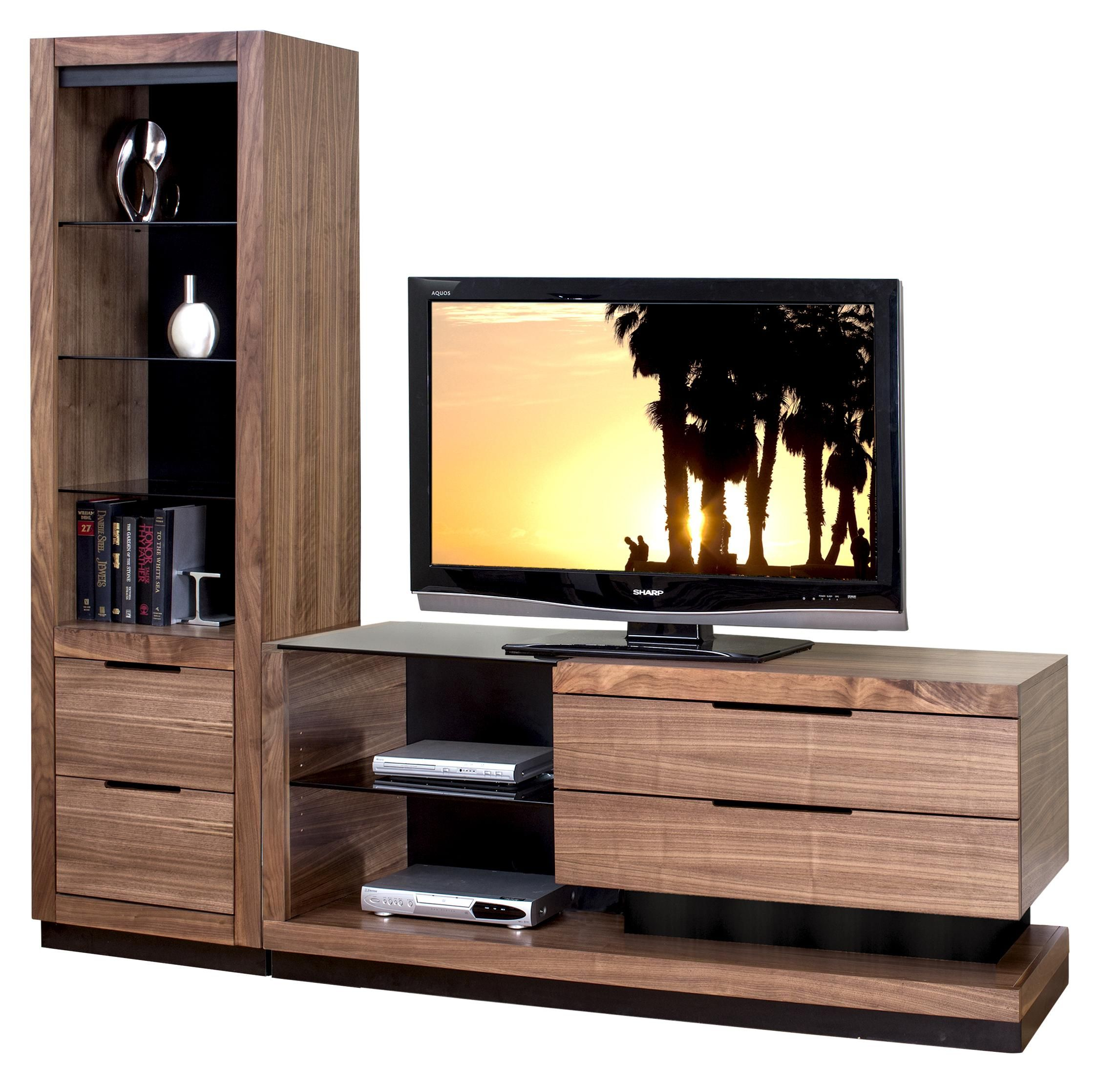 Stratus-Walnut Small Left Side Wall Unit with 1 Pier by kathy ...