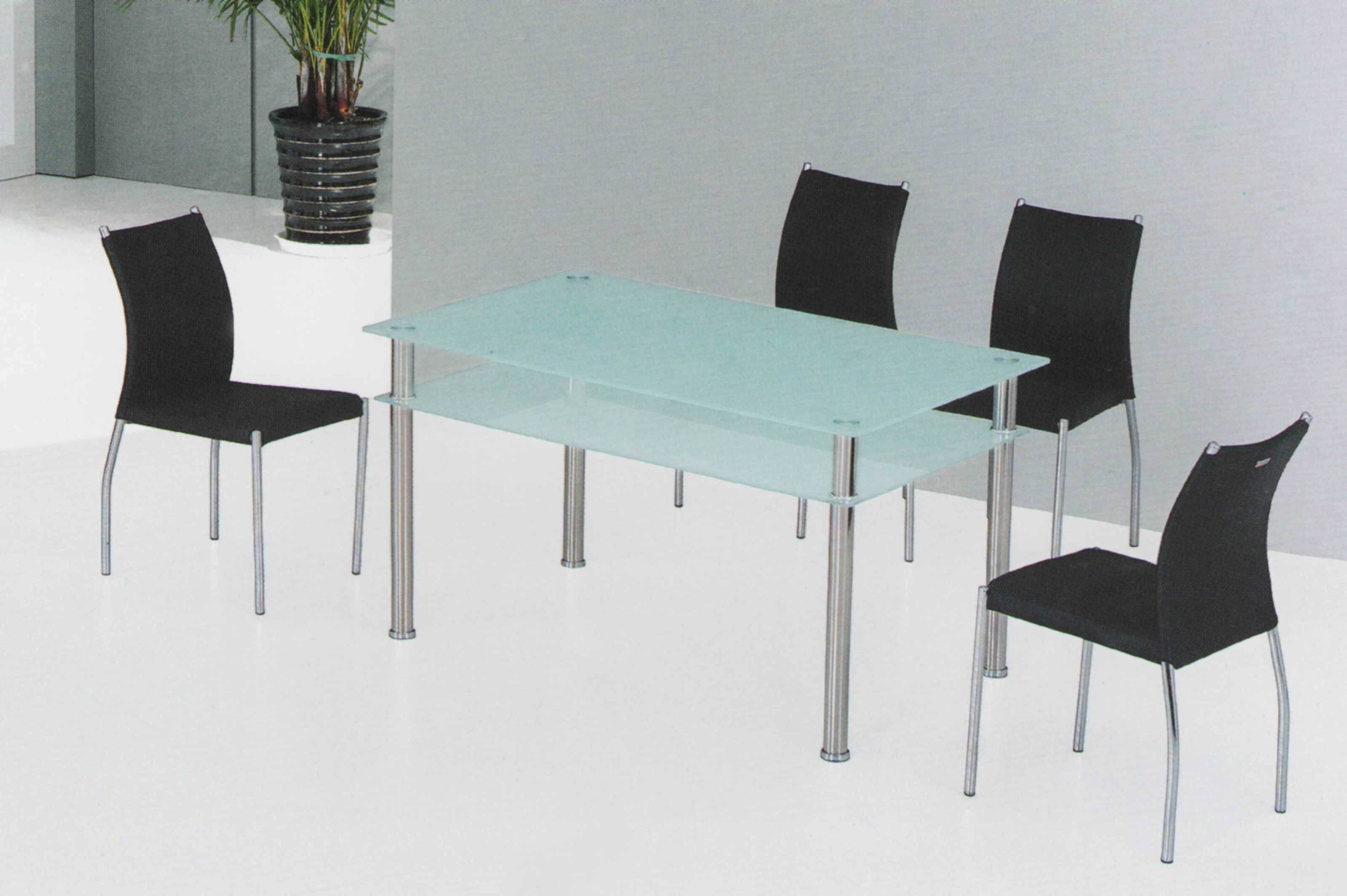 Frosted Green Glass Dining Table | Doces Abobrinhas | Pinterest ...
