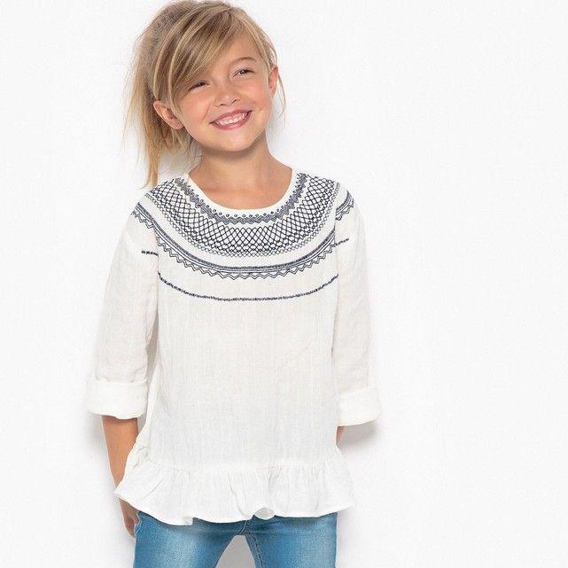 91afcd8ddb7f1 ... Mode enfant par La Redoute. Découvrez cette blouse brodée à l esprit  folk