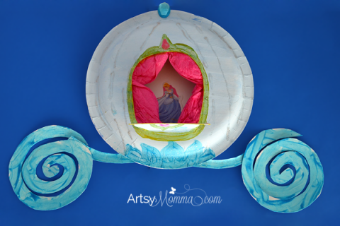 Could make this simpler - paper plate Cinderella coach