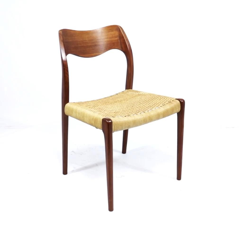 Mid Century Model 71 Dining Chair By Niels Moller