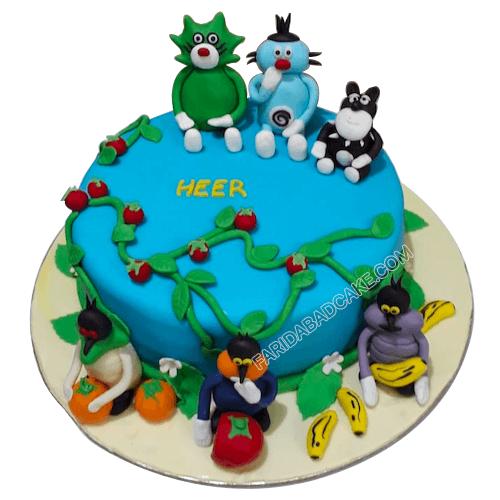 Pleasant Oggy Cake In 2020 Order Birthday Cake Online Order Birthday Funny Birthday Cards Online Aeocydamsfinfo