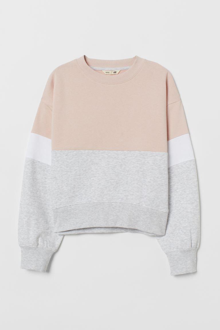 Sweatshirt Light Pink Gray Melange Kids H M Us Cute Sweatshirts For Girls Cute Casual Outfits Stylish Hoodies [ 1152 x 768 Pixel ]