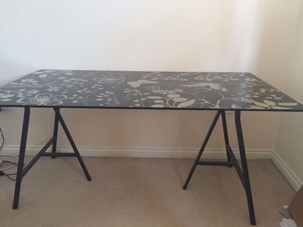 Pin By Mac On Master Bedroom Glass Top Desk Ikea Glass Table Top Glass Desk