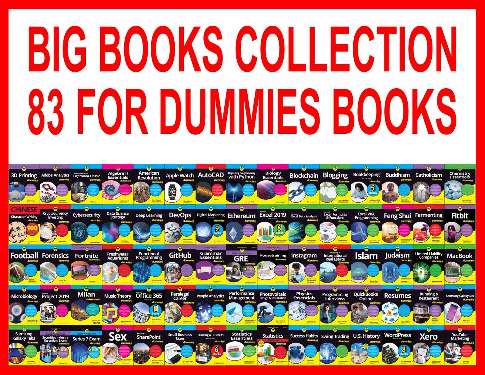 Big Ebooks Collection 83 For Dummies Ebooks Dummies Book Catholicism For Dummies Quickbooks Online