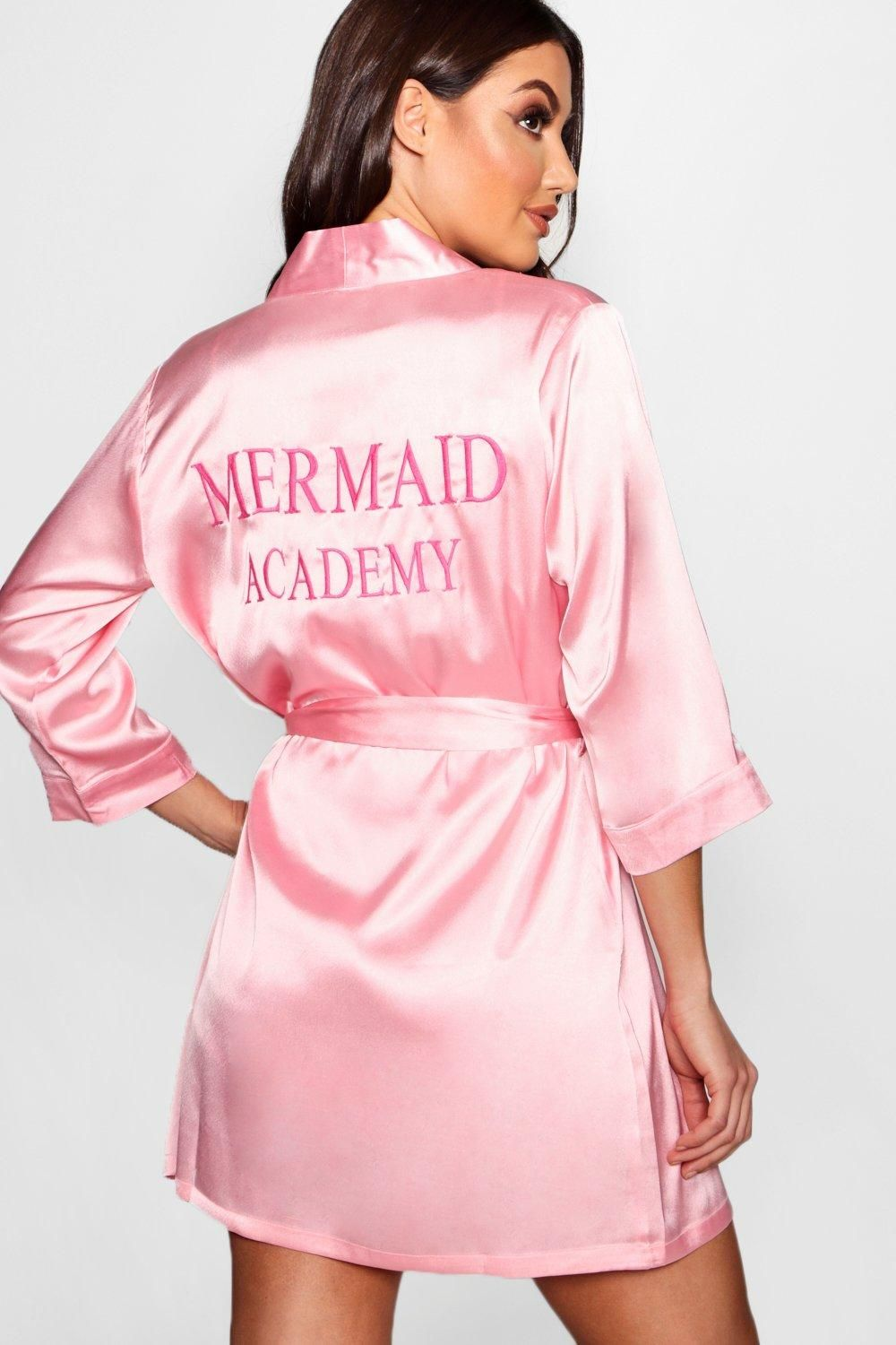 4e65da4d9c7b Click here to find out about the Evie Mermaid Academy Embroidered Robe from  Boohoo, part of our latest Nightwear & Onesies collection ready to shop  online ...