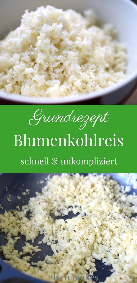 blumenkohlreis recipe keto pinterest kochen ohne kohlenhydrate rezepte and low carb rezepte. Black Bedroom Furniture Sets. Home Design Ideas