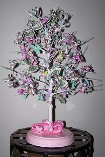 how to make a baby shower money tree