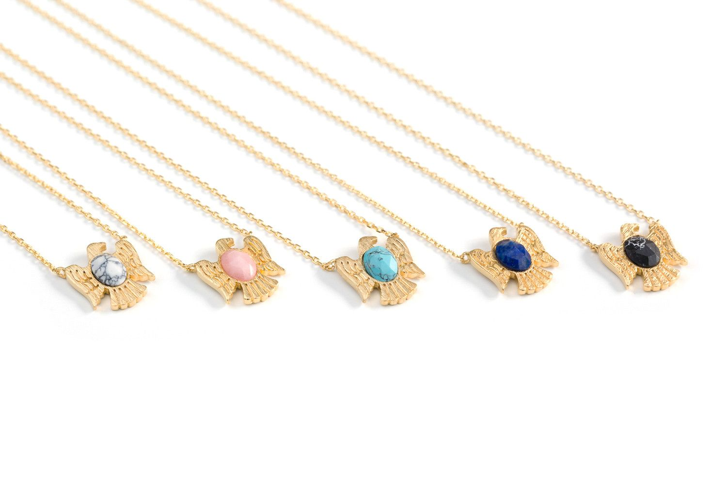 * 2016 F/W Season Jewelry Trend: Gemstone collection* gemstone necklace-TA--Your favorite ways to sparkle. Trending Stones-Turquoise; Opal; Moonstone; Pearl; Aquamarine;Blue Topaz ;Lapis Lazuli; Ruby. Over the centuries, various cultures have contributed to the legend and lore surrounding gemstones. These special minerals will make you more attractive with magical power