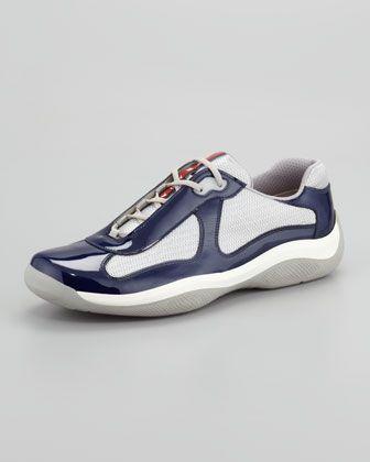 Americas Cup Sneaker, Navy/Silver
