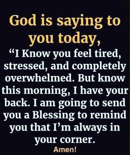 God is saying to you today...