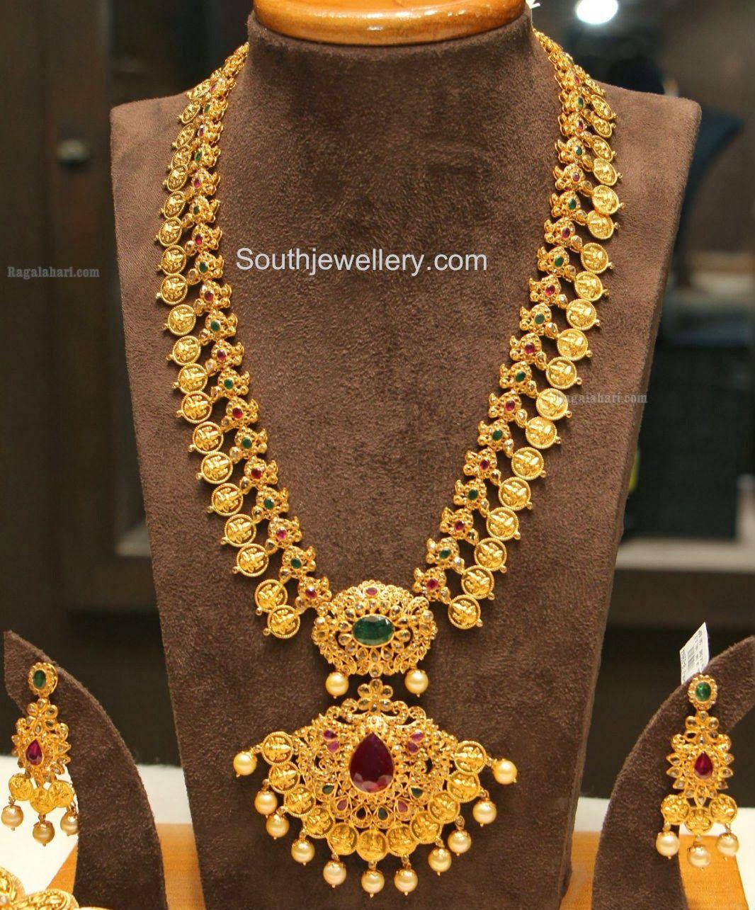 Latest gold necklace designs in grams pachi necklace latest jewellery - Blue Necklace Uncut Diamond Kasulaperu Jewellery Designslatest