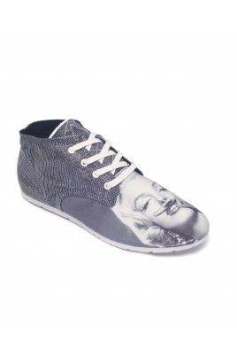 BASMOUS MARYLIN GLITTER #shoes #canvas #print #marilynmonroe #moustache