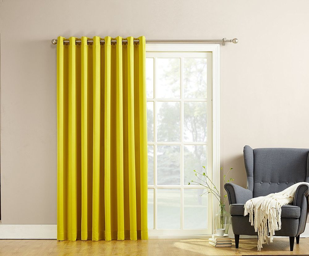 Sun Zero Becca Energy Efficient Patio Door Curtain Panel 100 X 84 Yellow Sunzero Patio Panel Patio Door Curtains Glass Door Curtains