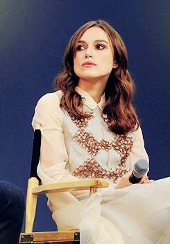 """Keira Knightley attends a Q&A for """"Begin Again"""" at the Regent Street Apple Store in London (July 2nd, 2014) (x)"""