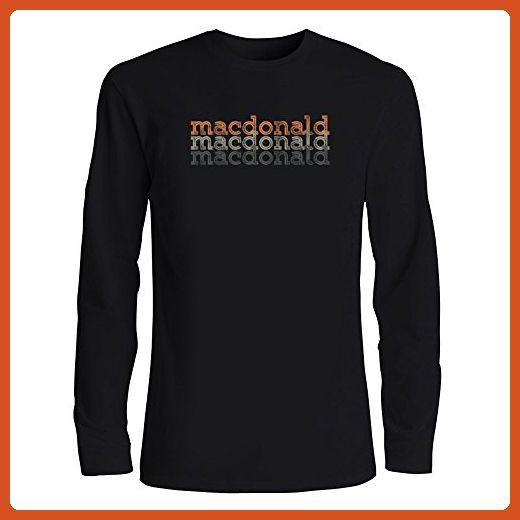 Idakoos - Macdonald repeat retro - Last Names - Long Sleeve T-Shirt - Retro shirts (*Partner-Link)