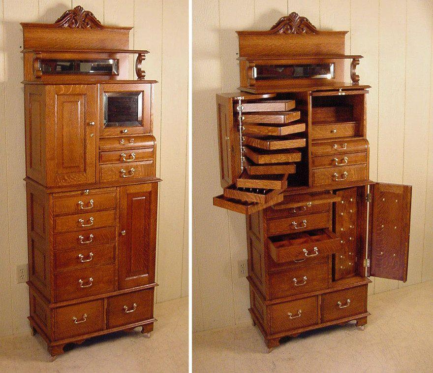 Unusual Vintage Storage Furniture Dental Cabinets