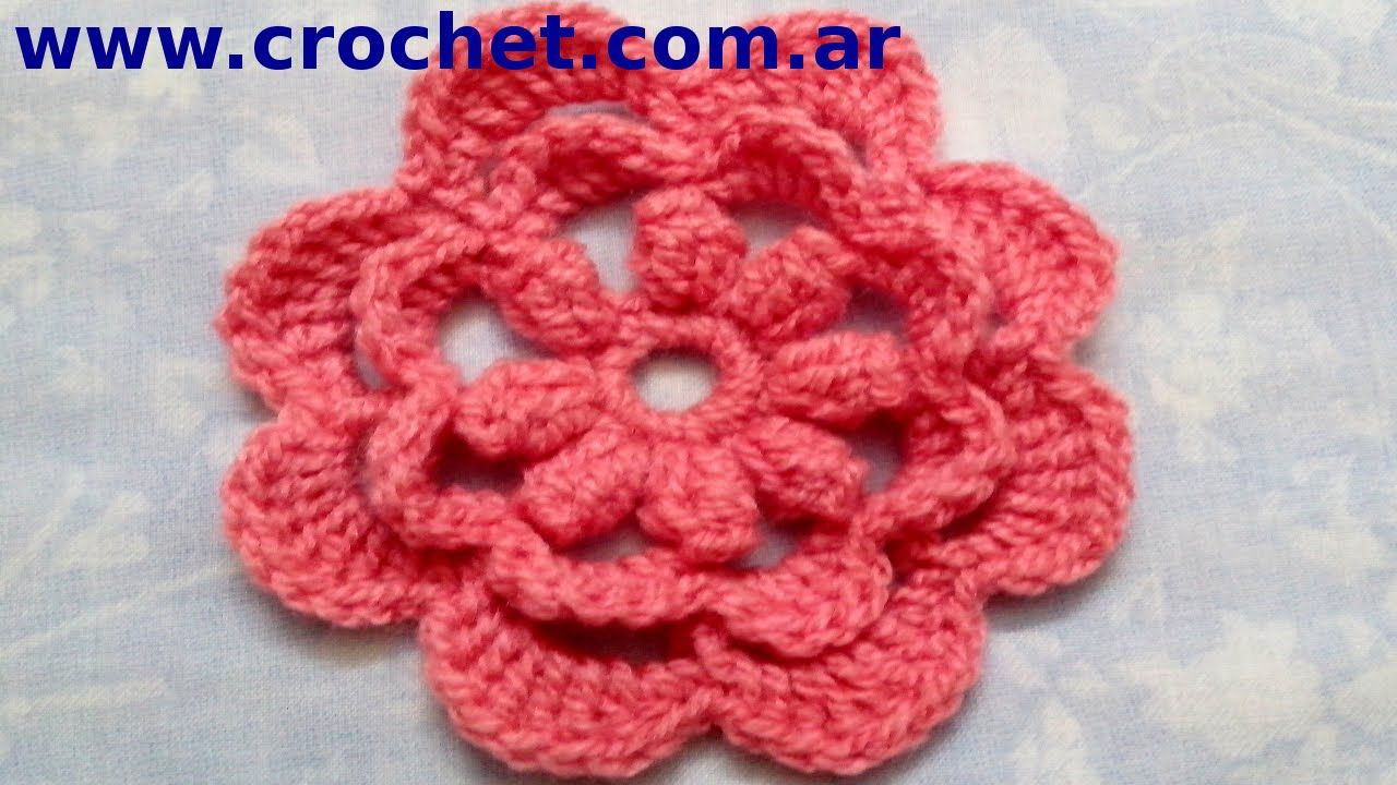 Flor n 15 en tejido crochet tutorial paso a paso flores tejidas flor n 15 en tejido crochet tutorial paso a paso izmirmasajfo Image collections