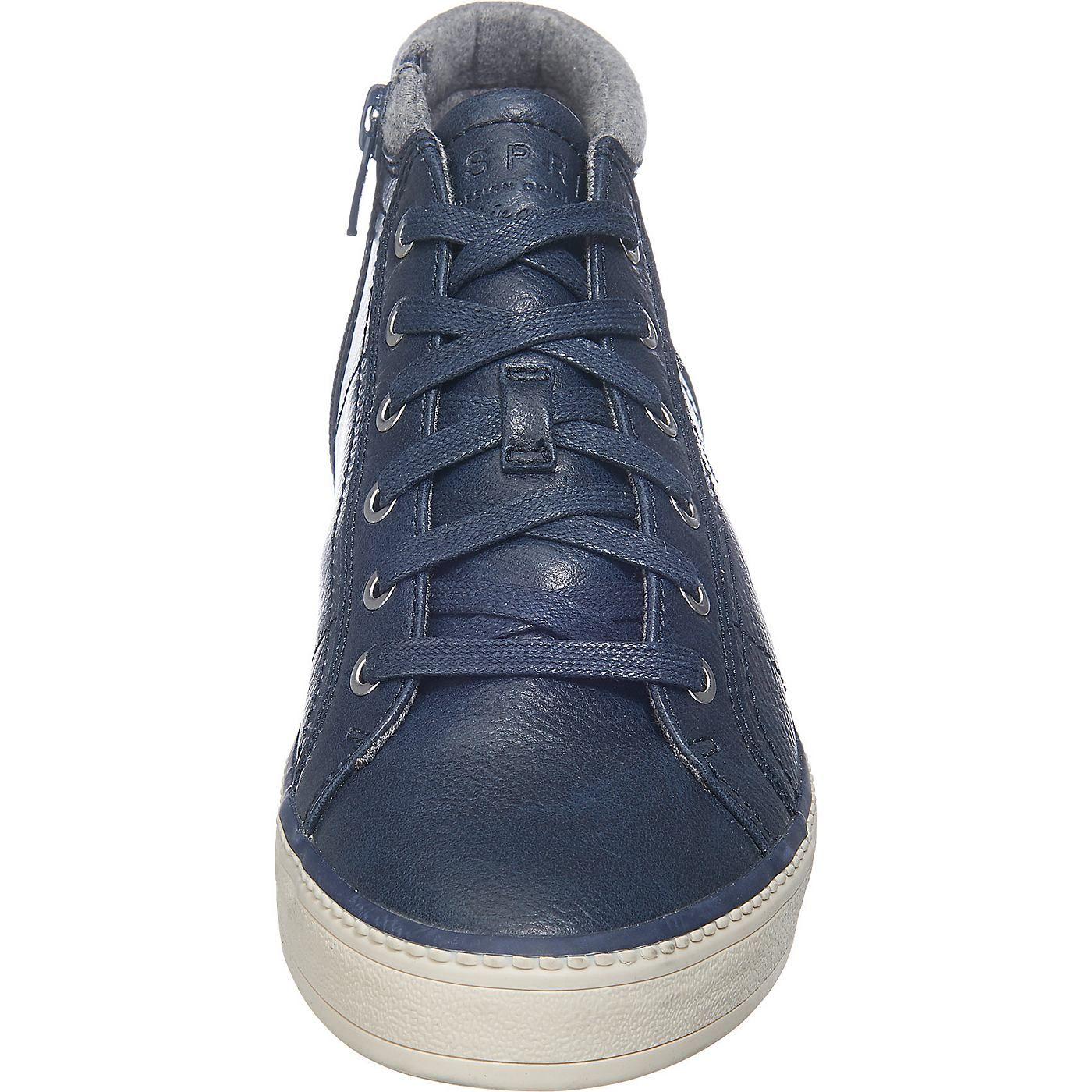 Die ESPRIT Alamak Sneakers besitzen eine Kunstleder-Oberfläche in genarbter Optik. Zusätzlich zur Schnürung bietet das Modell einen seitlichen Reißverschluss für einen leichten Einstieg an.    - Peta-zertifizierte, vegane Schuhe - Verschluss: Reißverschluss - weich gepolsterte Decksohle  - Futter aus hautfreundlichem Single Jersey  - dicke, flexible und rutschhemmende Gummilaufsohle   Obermater...