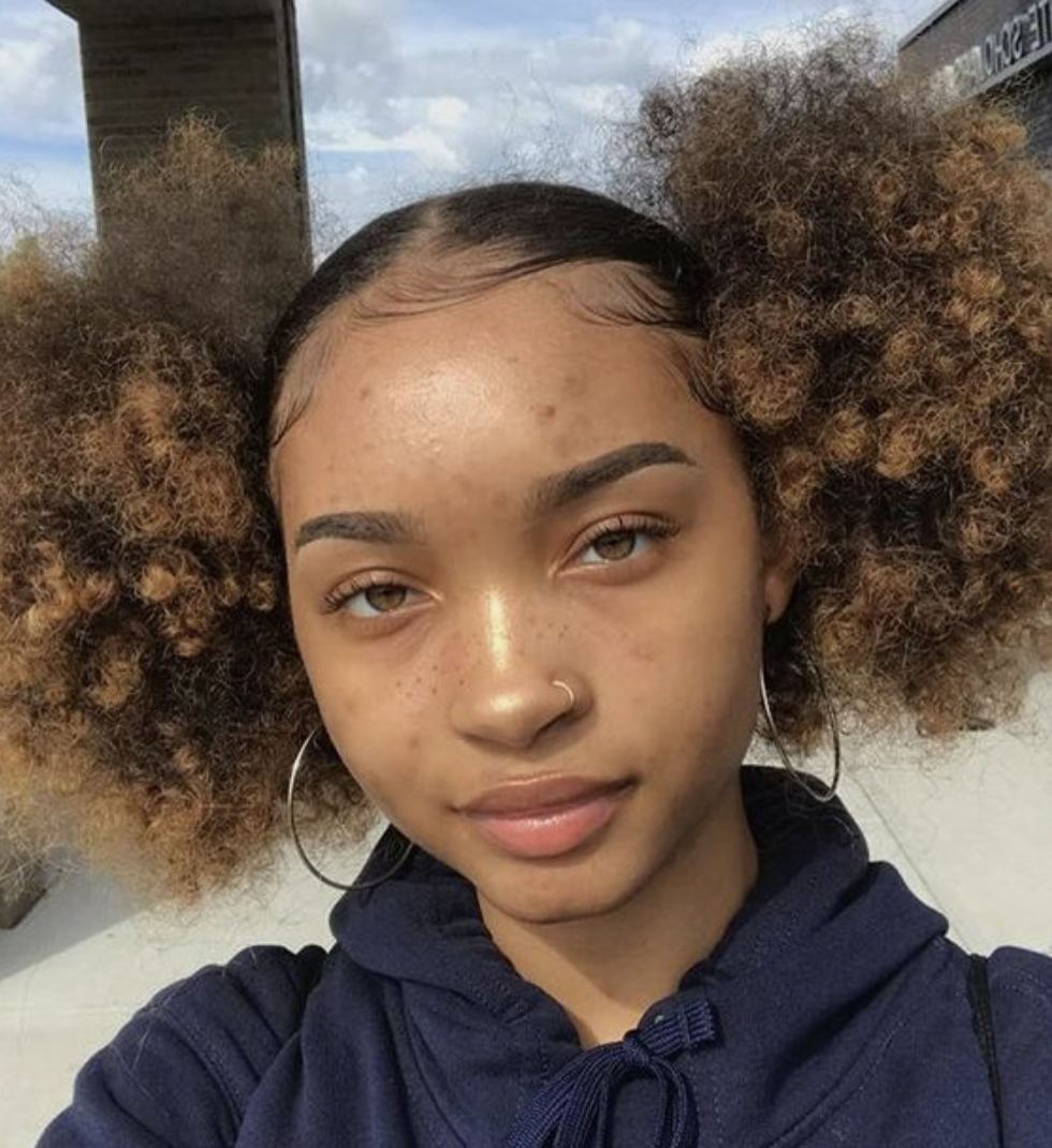 Would You Try This Afro Puffs Hairstyle Hair Puff Afro Hairstyles Afro Puff Hairstyles