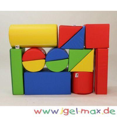 xxl gro bausteine 14 teile softbausteine krippenm bel pinterest m bel kindergarten und igel. Black Bedroom Furniture Sets. Home Design Ideas