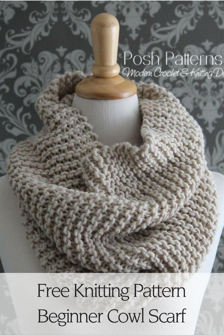 Beginner Knit Cowl Pattern | Beginner knitting, Knit cowl and ...