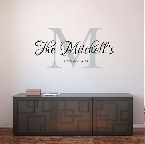 Personalized Family Name /& Established Date Wall Lettering Sticker Decal