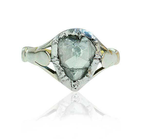 antiker Diamant Diamanrose Diamantring