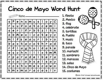 All About Cinco de Mayo $. Activities to learn about and