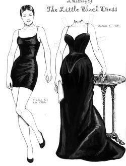 The Power Of The Little Black Dress Invented By Coco Chanel That Paper Dolls Little Black Dress Black Dress