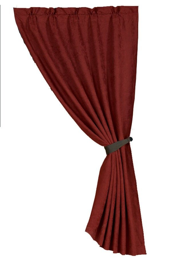 Red Suede Curtain Home Decor Furnishings Panel Curtains