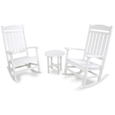 Ivy Terrace Classics 3-Piece Rocking Chair Seating Set Products - bosch küchenmaschine profi 67