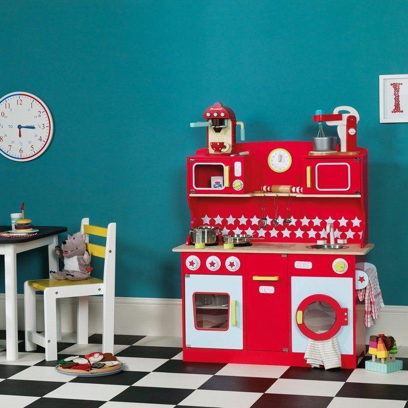 Cuisine Enfant Bois Idées Pour Surprendre Votre Petite Bois - Cuisiniere gaz rouge pour idees de deco de cuisine