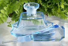LARGE Vintage Light Blue Perfume Scent Bottle~DAUBER Intact~Signed~Collectible