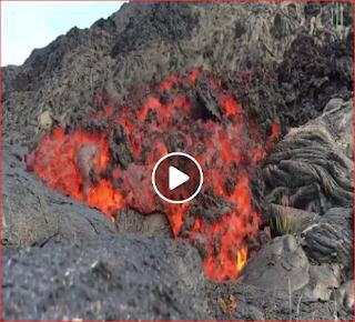 بالفيديو مشهد مرعب لجبل ينصهر بسبب بركان هاواي Volcano Of Hawaii Hawaii Volcano
