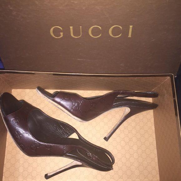 96f32fa825c Authentic Gucci Sandals Sand pelle s cuoio guccissima chocolat. Includes  Authenticity card