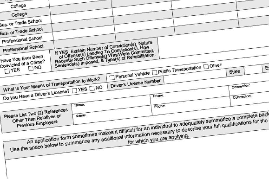 Employment Application Fillable Pdf Employment Application Unique Resume Template Cover Letter Template