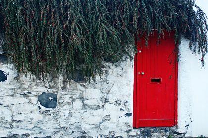This doorway is in Dublin, Ireland..love the red!