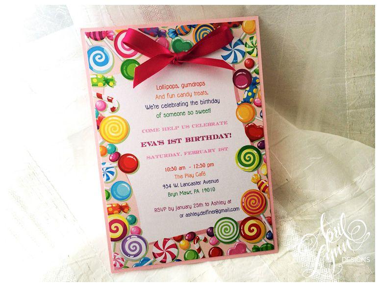 Philadelphia Stationery Designer Candyland Birthdays and Candy