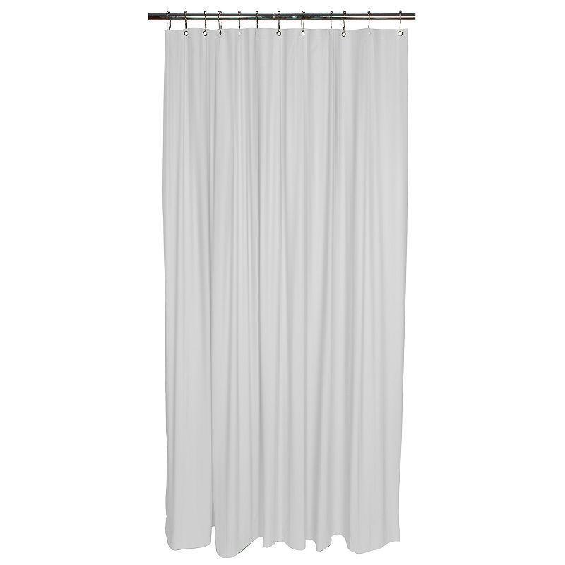 Bath Bliss Heavy Weight Mildew Resistant Shower Curtain Liner White Vinyl Shower Curtains Shower Curtain Shower Liner