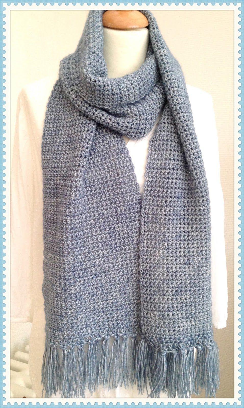 Sjaal Met Vasten Haken En Breien Crochet Scarves Crochet En Shawl