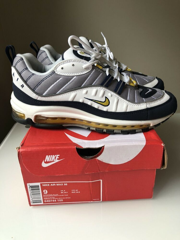 74752c730c Nike Air Max 98 Tour Yellow Size 9 in Box VNDS Gundam Off White #shoes  #kicks #solecollector