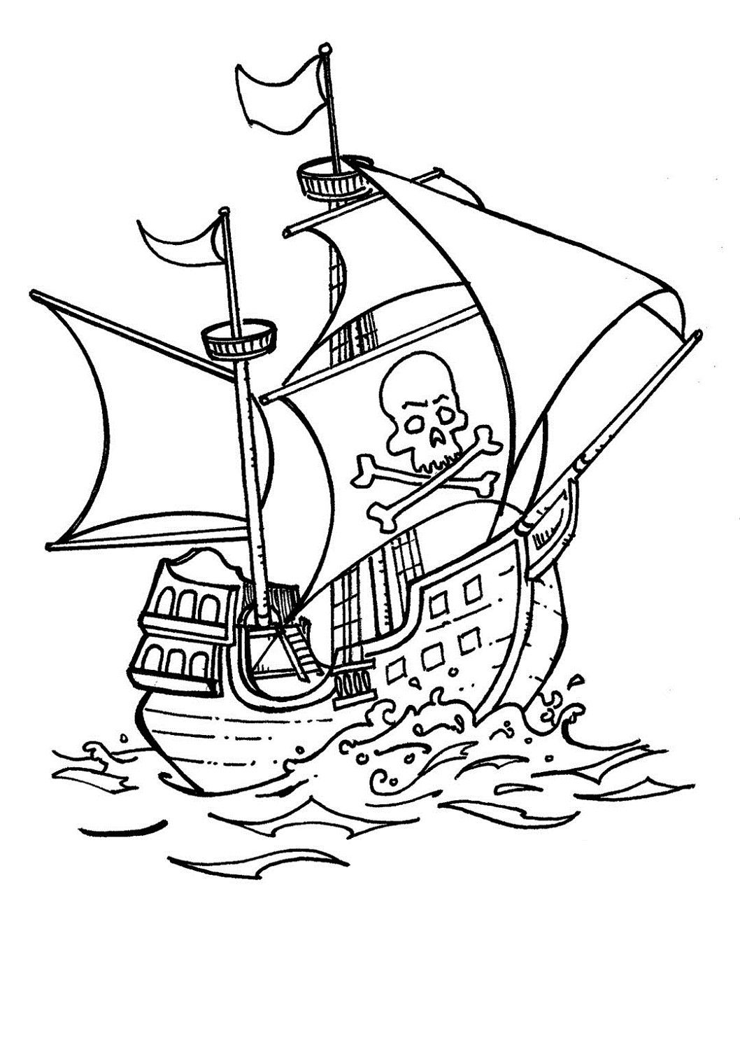Pirate Ship Pictures For Kids Pirate Coloring Pages Ship Coloring Pages Dragon Coloring Pages