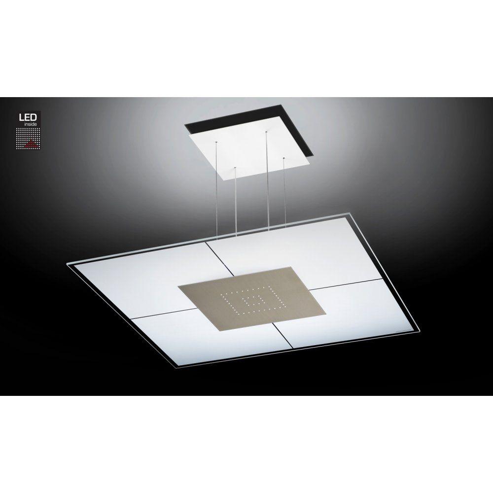 Grossmann Lighting 82 852 063 Magic Led Square Pendant Ceiling Light Finished In Matt Nickel