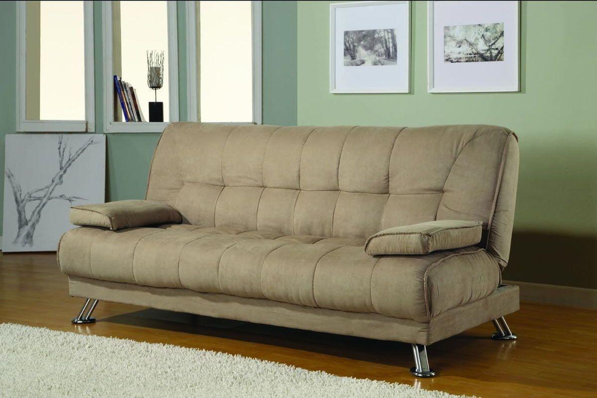 Tan Microfiber Sofa Bed Futons Pinterest # Muebles Retro Baratos