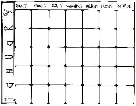 Blank Calendars For Behavior Management Tracking  Education