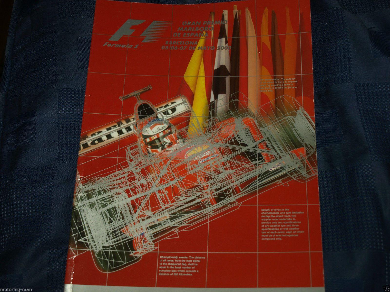 SPANISH SPAIN GRAND PRIX PROGRAMME 2000 DAMON HILL RALF MICHAEL SCHUMACHER WURZ | eBay